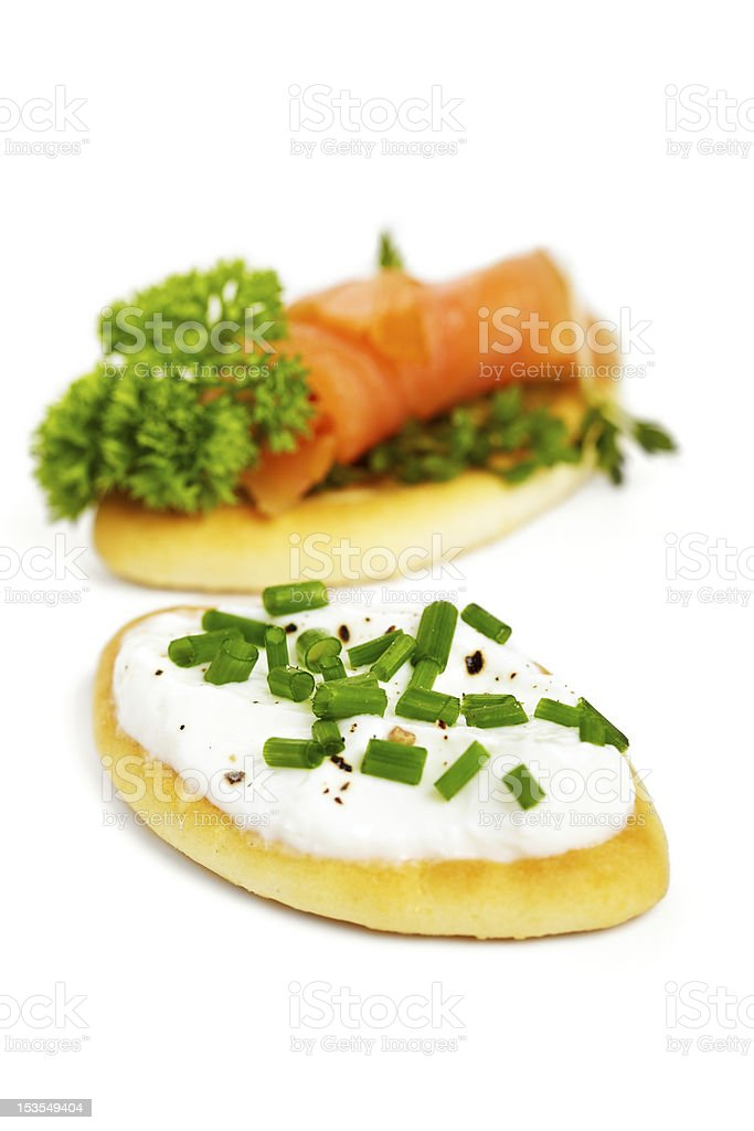 Biscuit appetizer stock photo