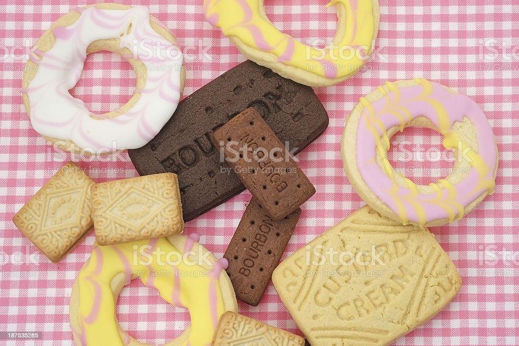 Biscuit assortment stock photo