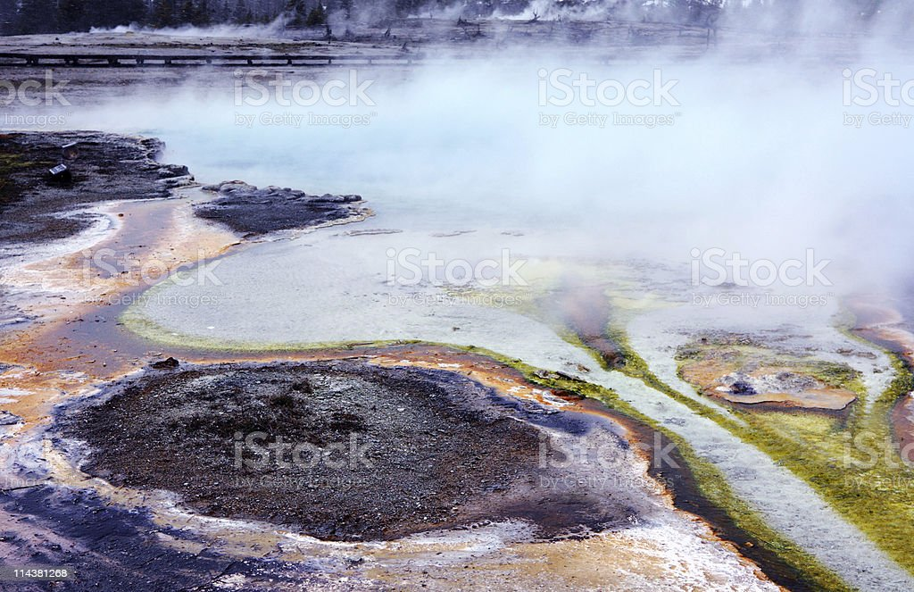 Biscuit Basin in Yellowstone NP stock photo