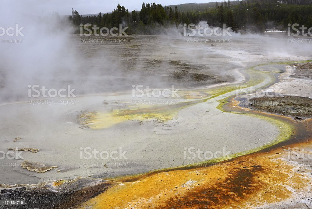 Biscuit Basin in Yellowstone stock photo