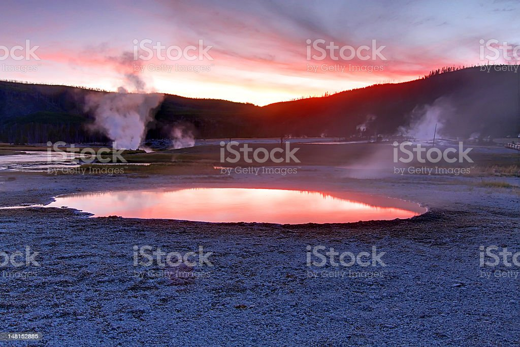 Biscuit Basin Spring In Yellowstone stock photo