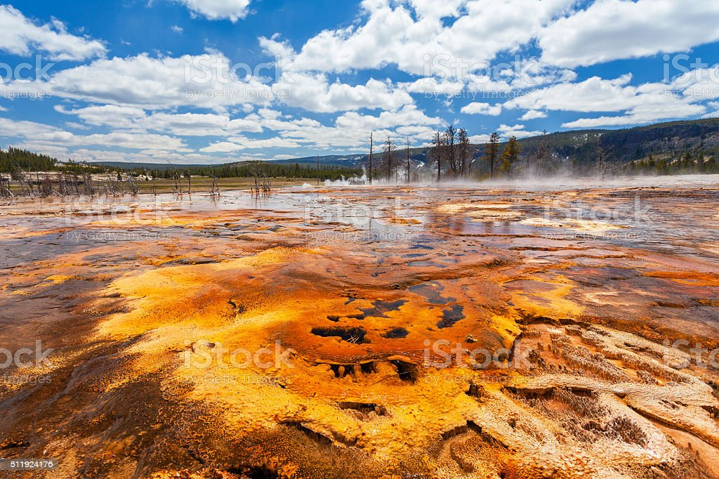 Biscuit basin, Yellowstone National Park stock photo