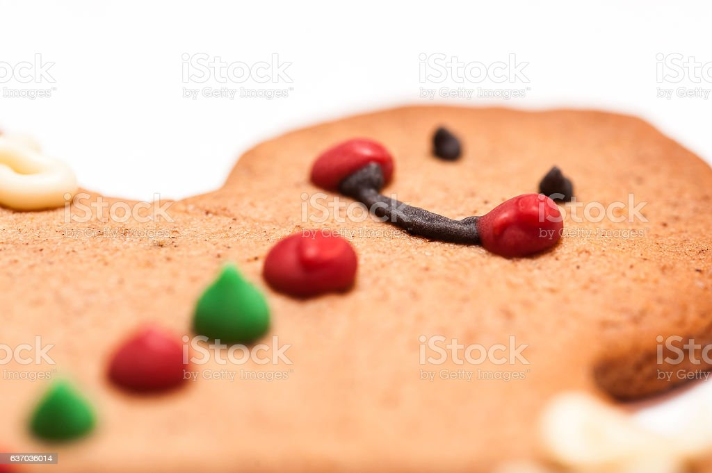 Biscuit cookie man stock photo
