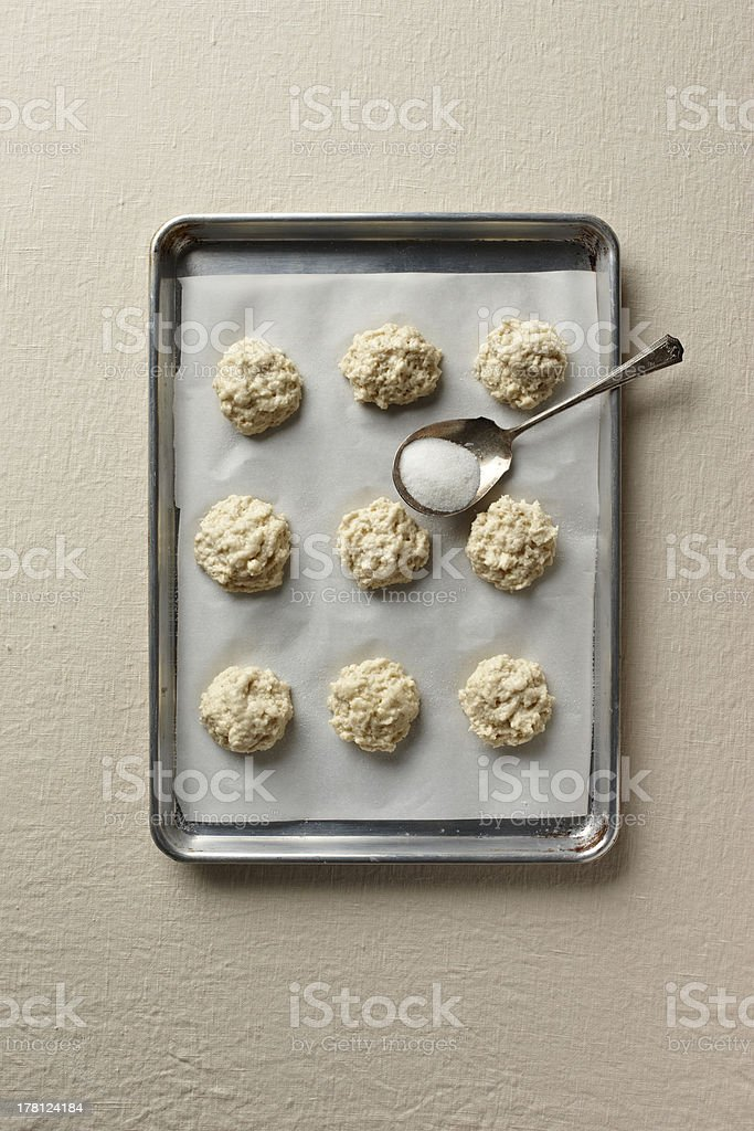 Biscuit dough stock photo