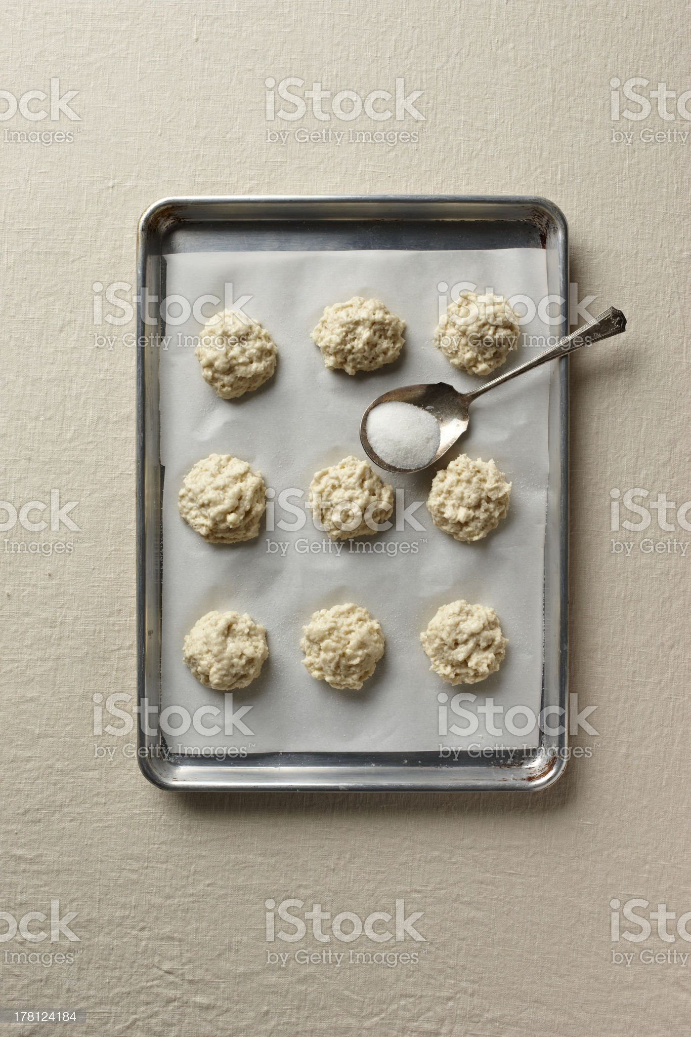 Biscuit dough royalty-free stock photo