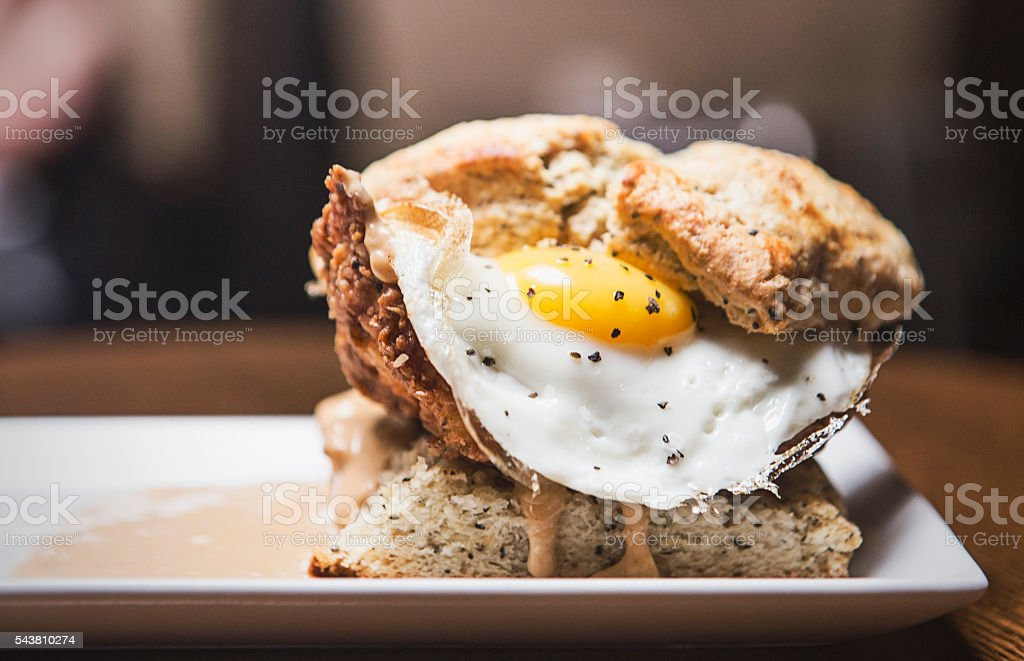 Biscuit Sandwich stock photo