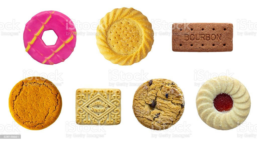 Biscuit Selection stock photo