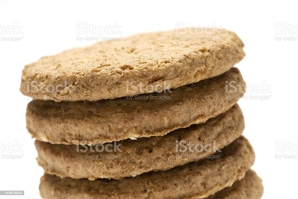 Biscuit stack royalty-free stock photo