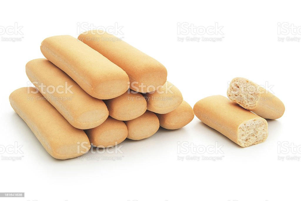biscuit sticks line up with clipping path royalty-free stock photo