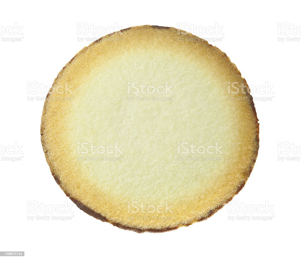Biscuit with chocolate stock photo