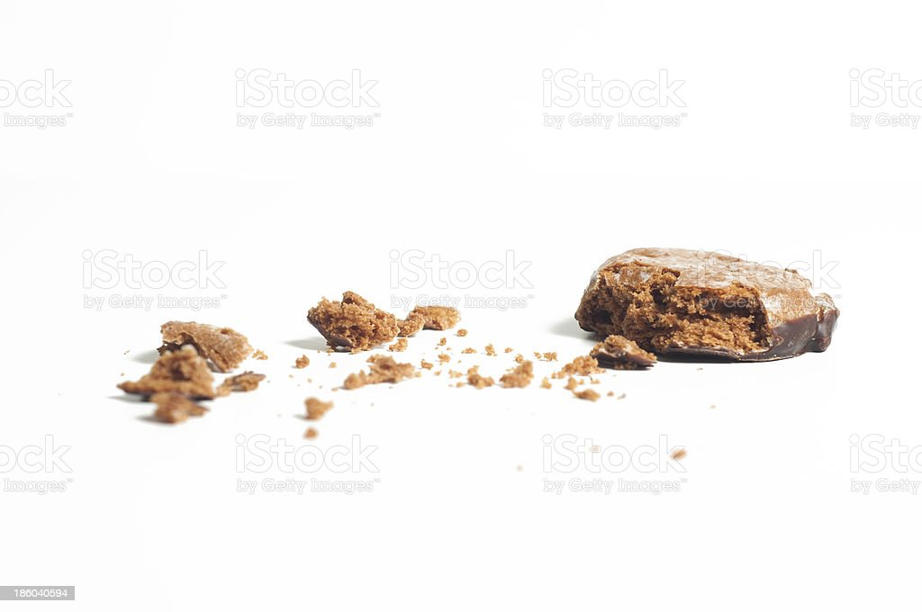 Biscuit with morsel close up royalty-free stock photo