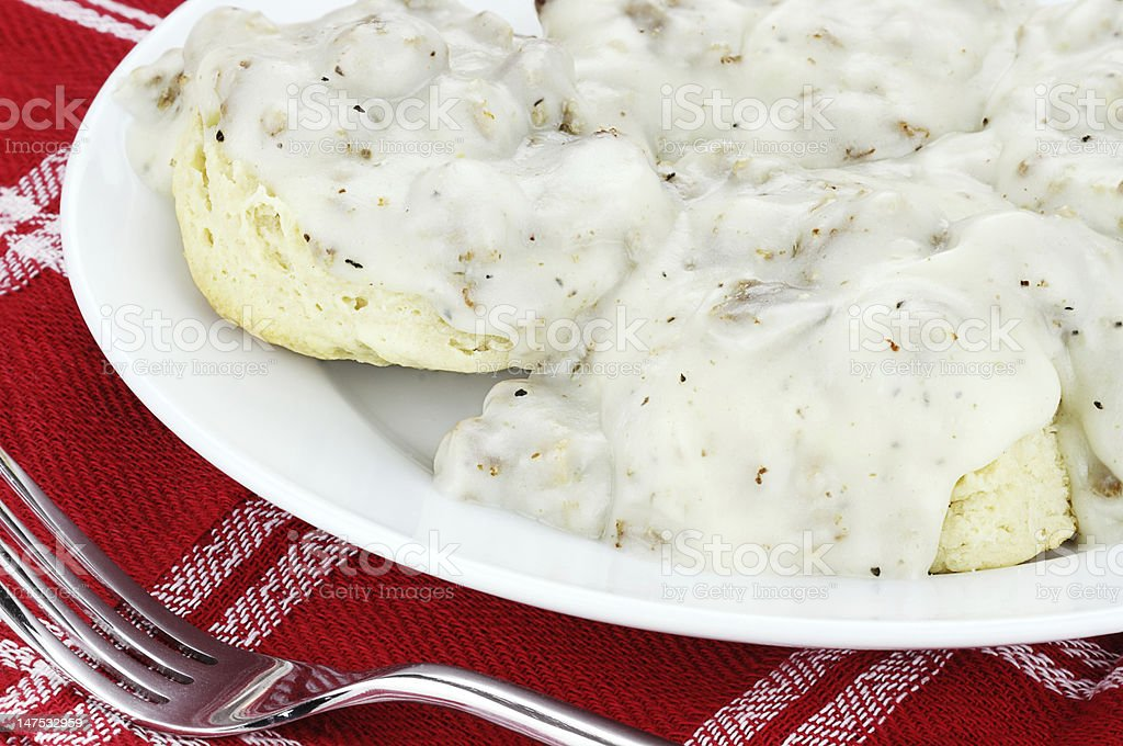 Biscuits and Gravy stock photo