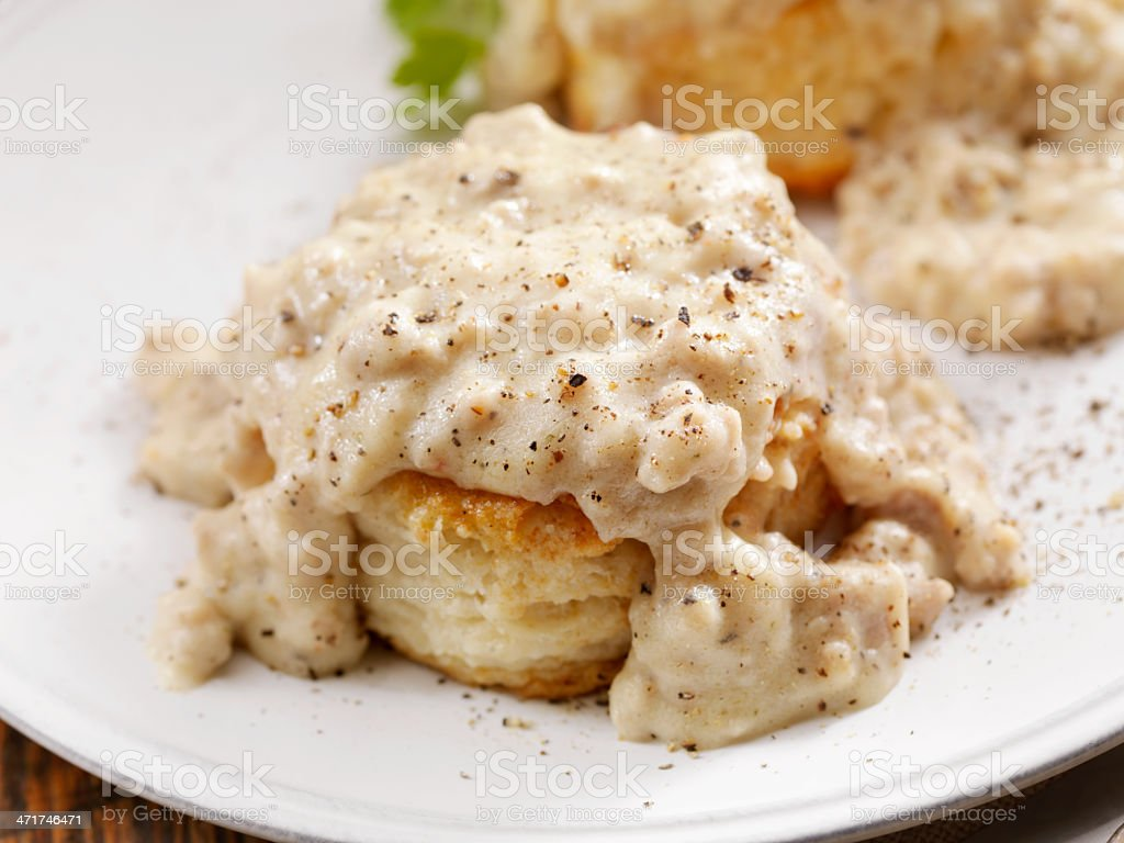 Biscuits and Gravy royalty-free stock photo