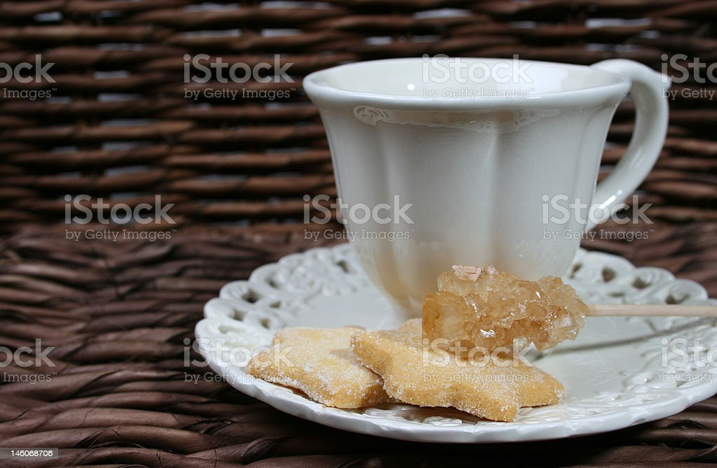 Biscuits and Sugar Crystal royalty-free stock photo