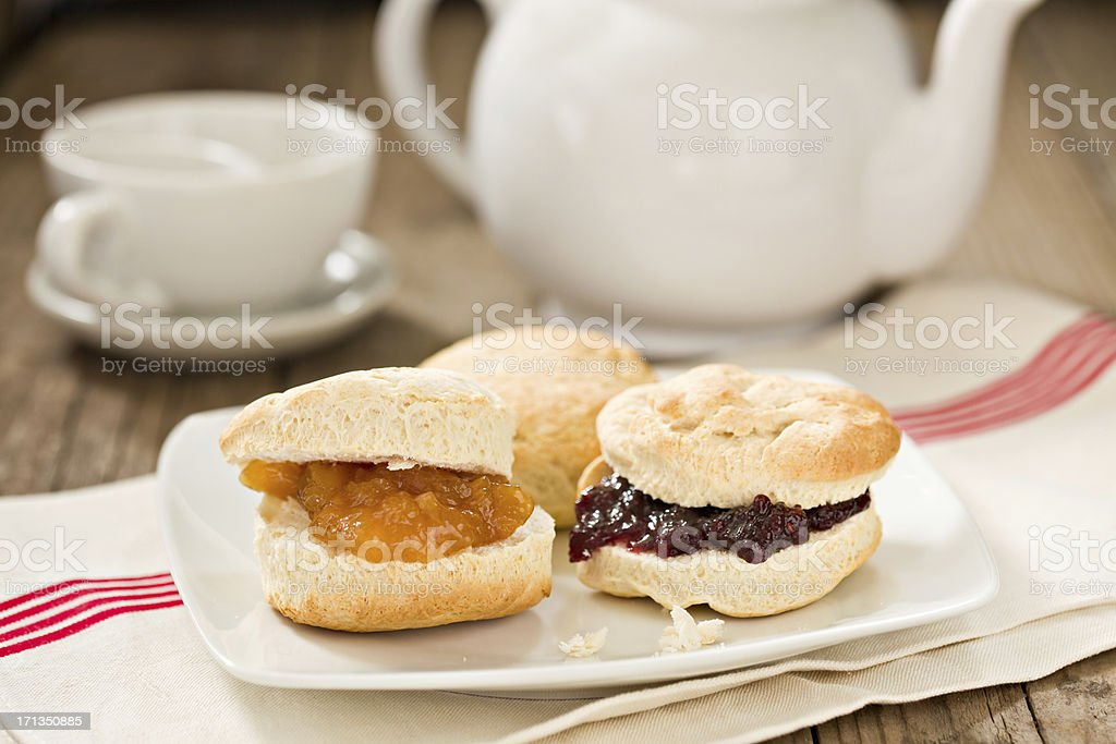 Biscuits And Tea stock photo