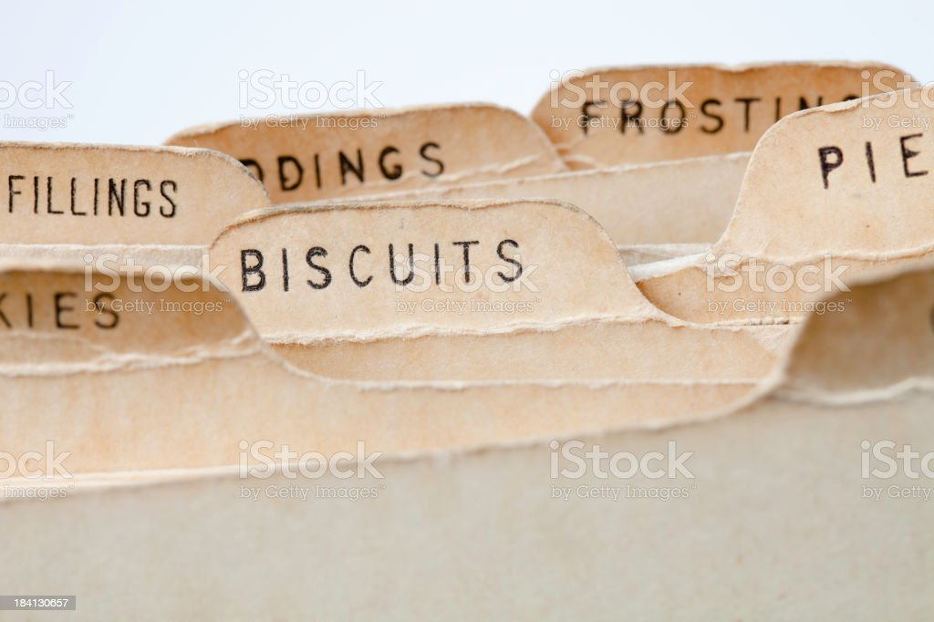 Biscuits baking Recipes royalty-free stock photo