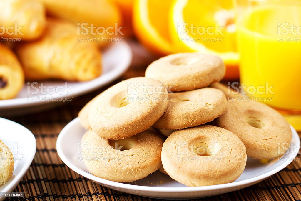 Biscuits for breakfast royalty-free stock photo