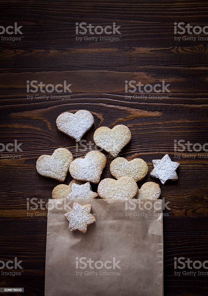 Biscuits in a packet stock photo