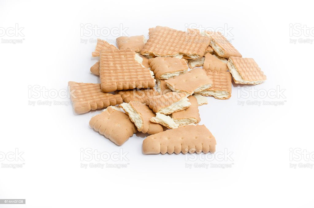 Biscuits  isolated royalty-free stock photo