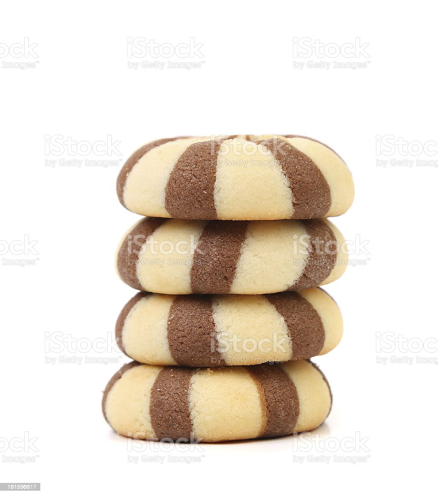Biscuits of a chocolate cloves. Stack. royalty-free stock photo