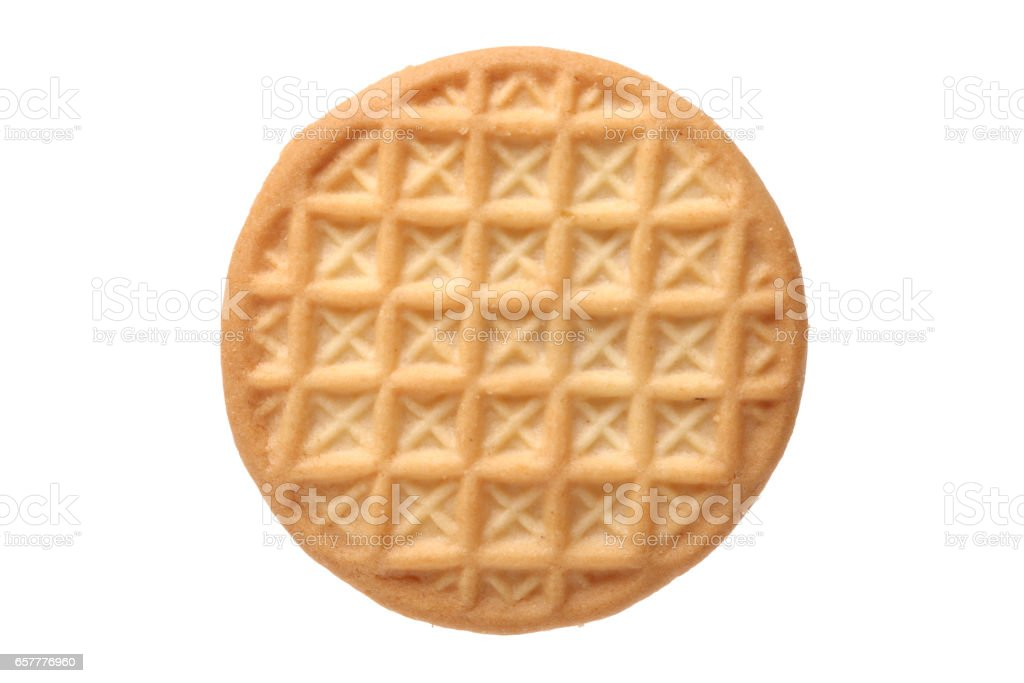 Biscuits  on white background stock photo