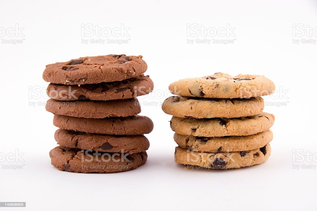 biscuits on white royalty-free stock photo