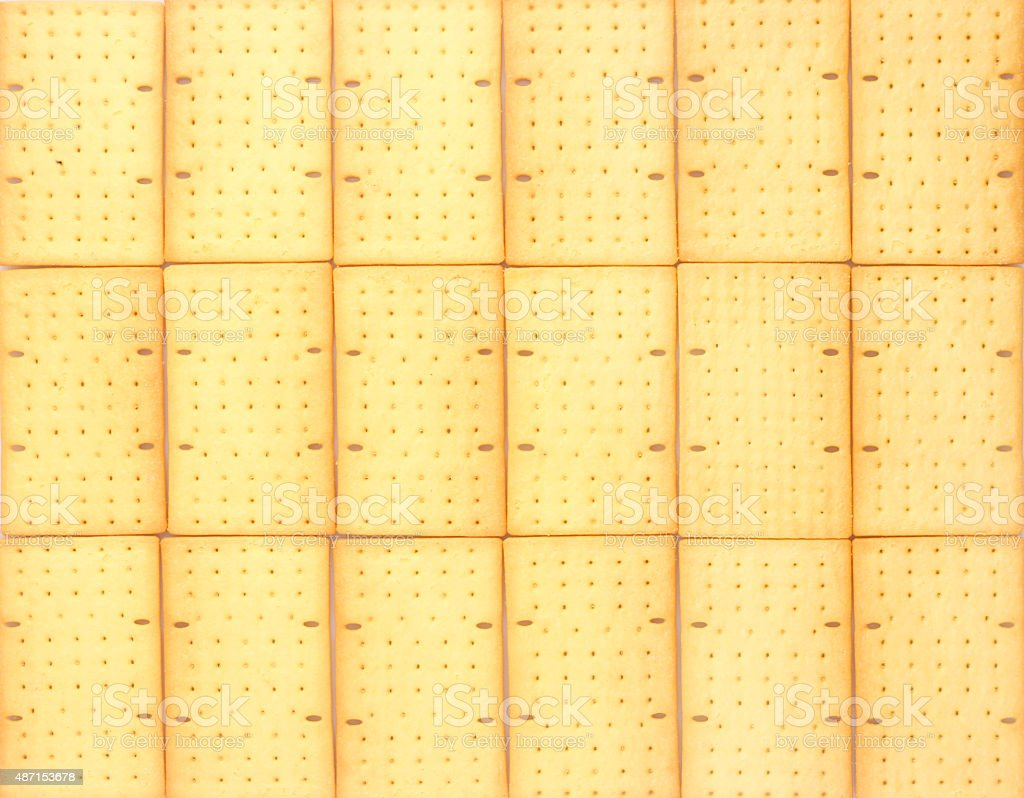 Biscuits or crackers on white background stock photo