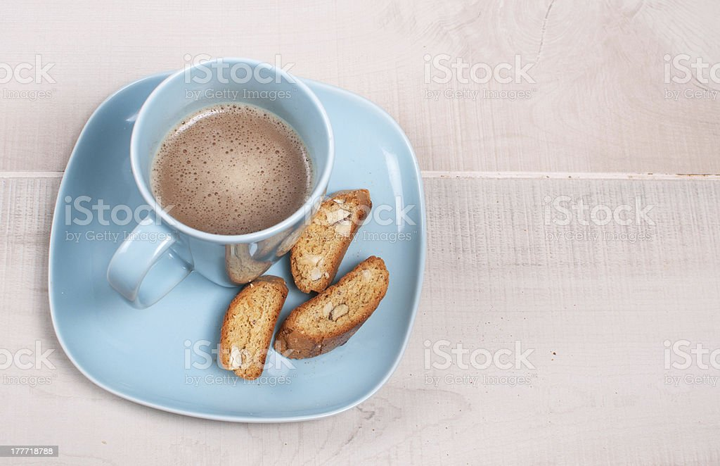 Biscuits with almond and cocoa royalty-free stock photo