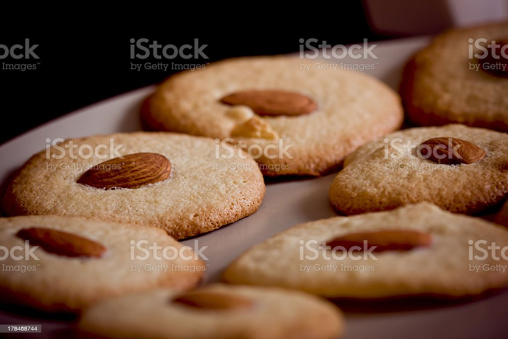 Biscuits with almond royalty-free stock photo