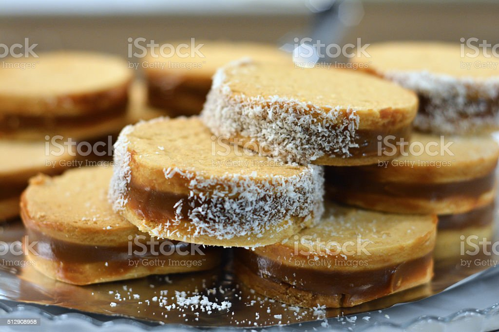Biscuits with cream stock photo