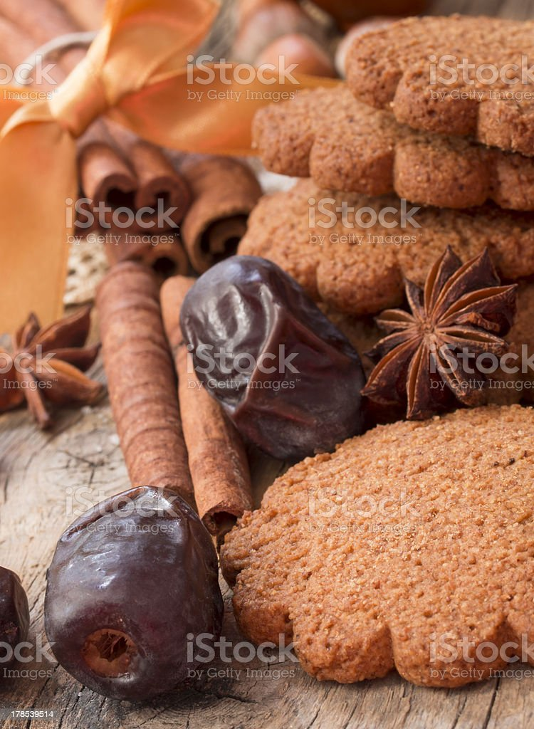 biscutis with date fruit royalty-free stock photo