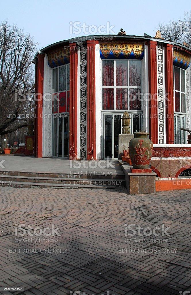 Bishkek, Kyrgyzstan: ornate pavilion stock photo