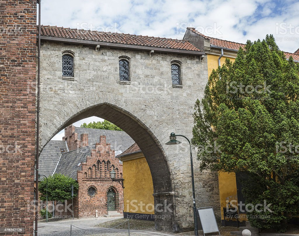 Bishop Absalons arch stock photo