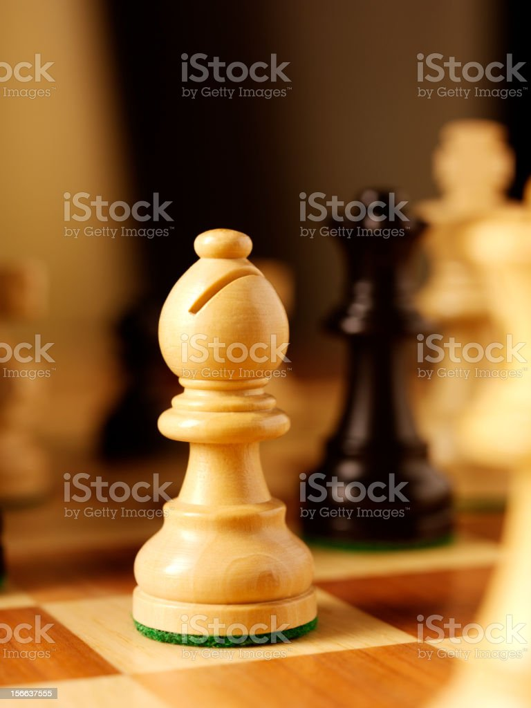 Bishop chess piece in a Game stock photo