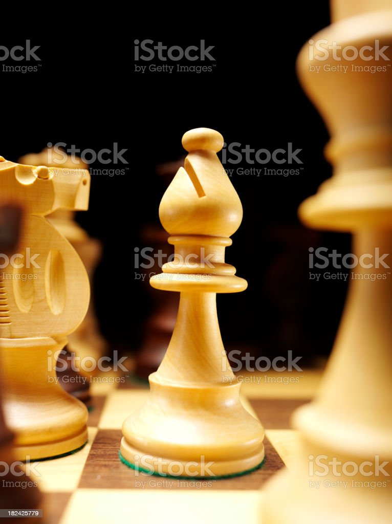 Bishop on a Game of Chess stock photo
