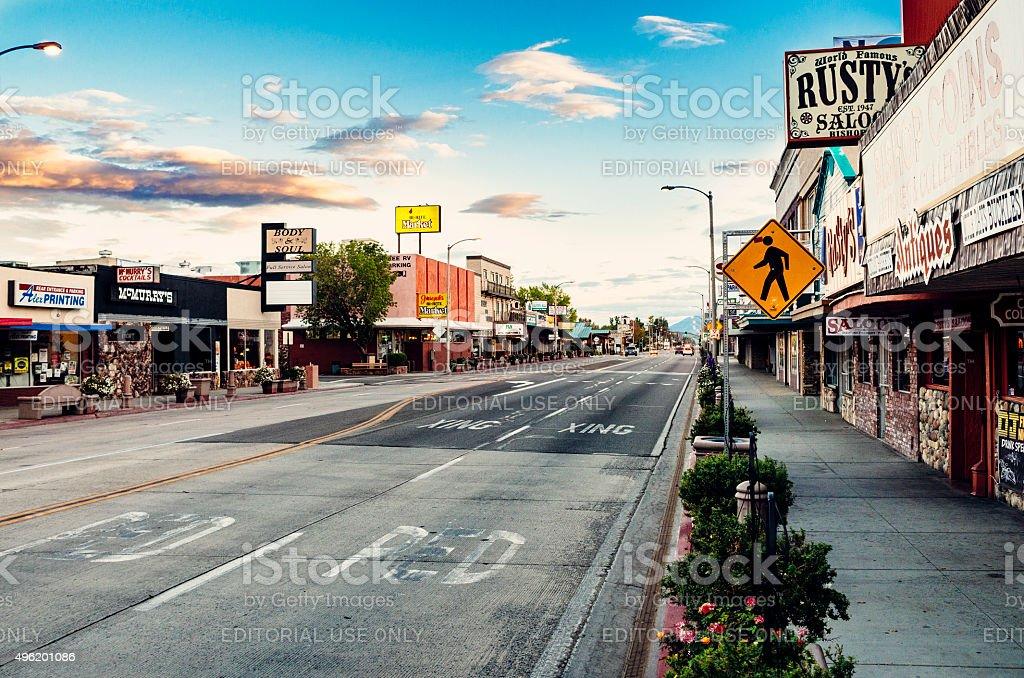 Bishop, Owens Valley, California stock photo