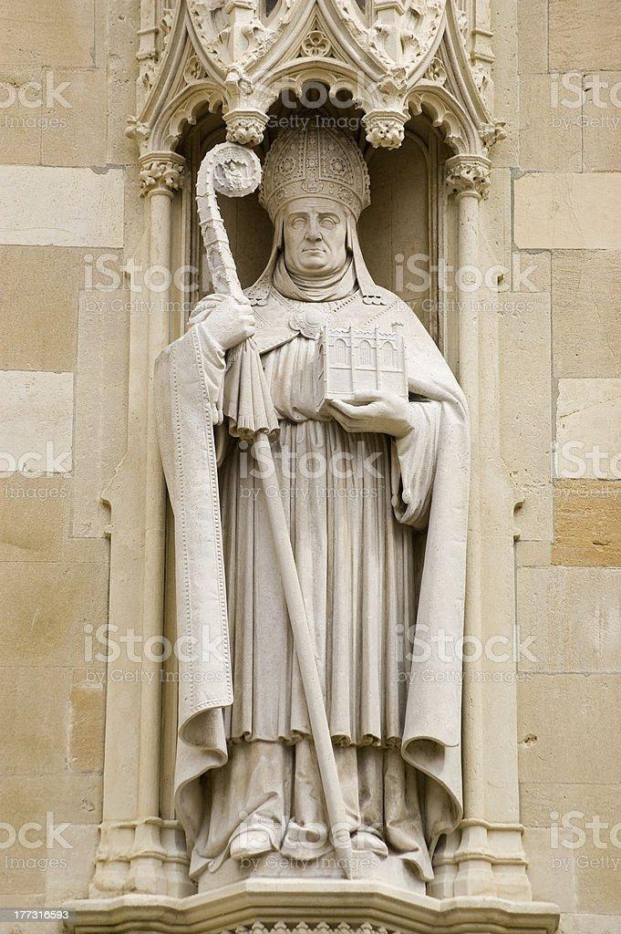 Bishop William Waynflete statue, Eton stock photo