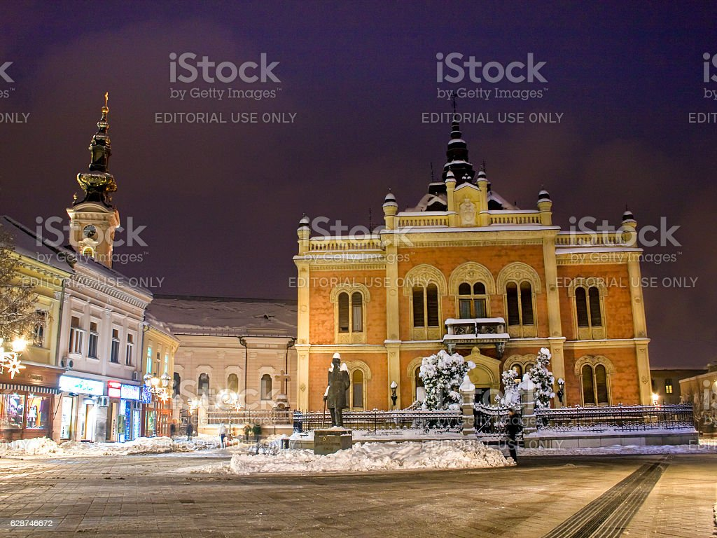Bishop's Palace and Cathedral in Novi Sad stock photo