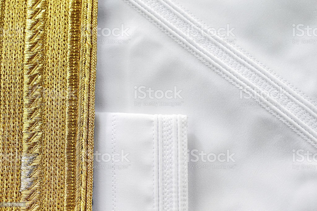 Bisht is a traditional Arabic men's piece of clothes stock photo