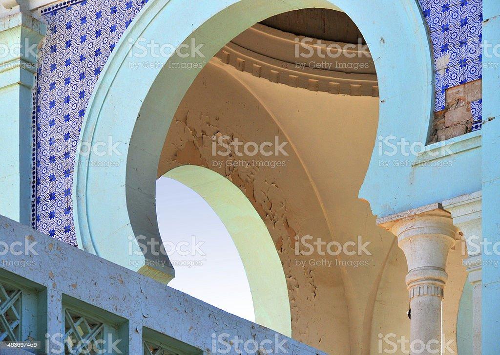 Biskra, Algeria: old city hall detail stock photo