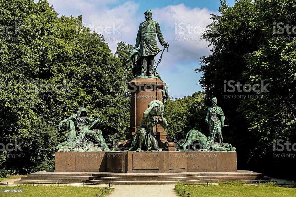 Bismarck Memorial in Berlin, Germany stock photo