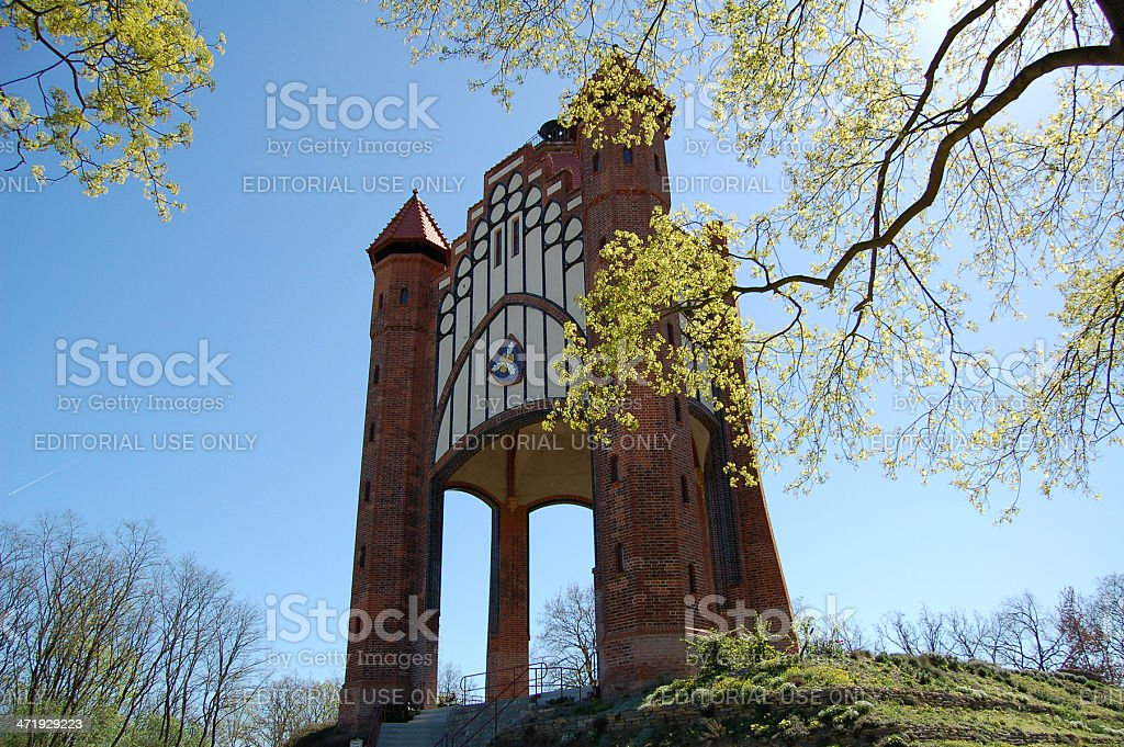 Bismarkturm in Rathenow (Germany) stock photo