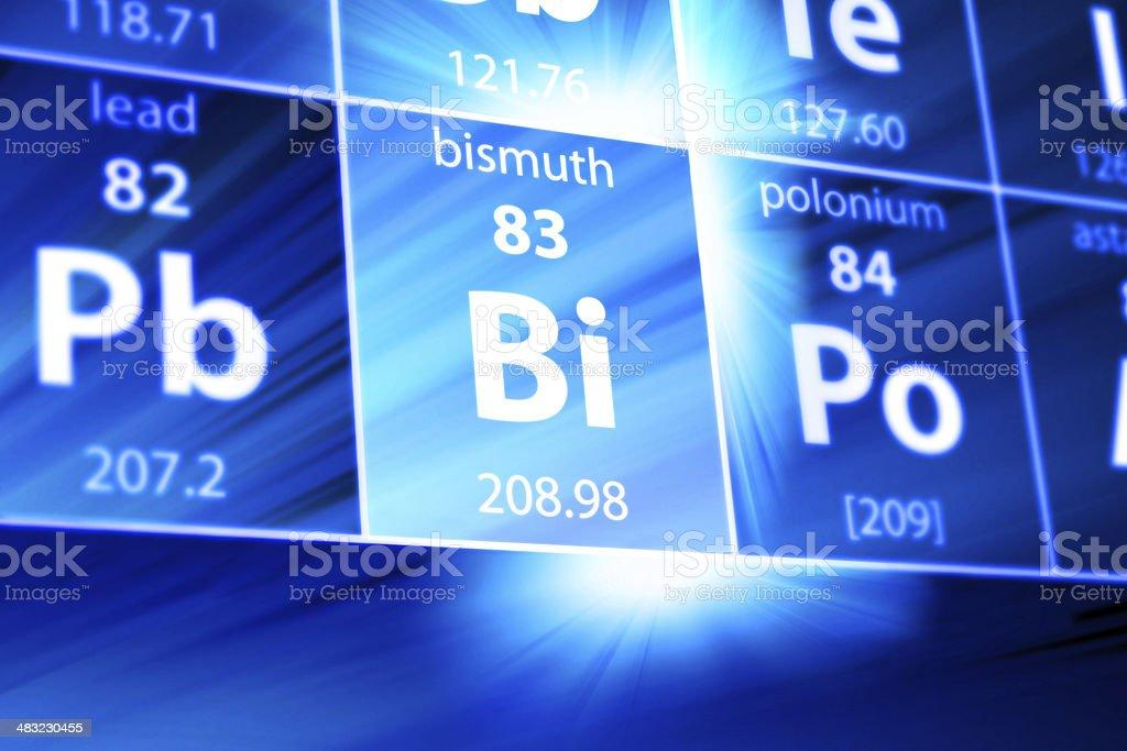 Bismuth Bi Periodic Table stock photo
