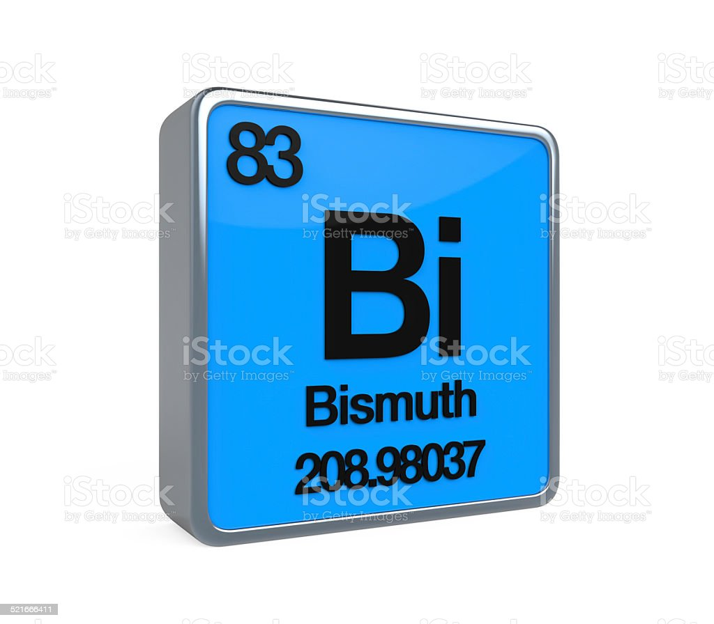 Bismuth Element Periodic Table stock photo