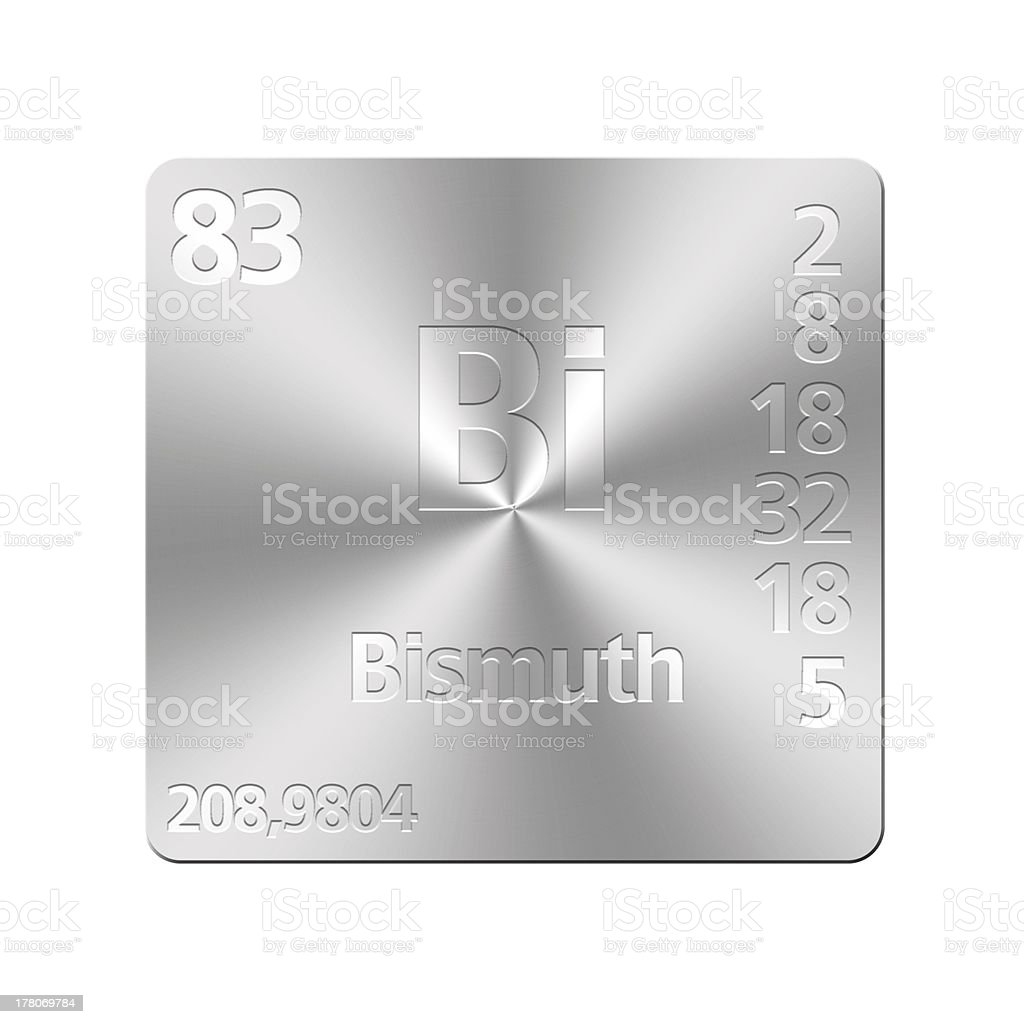 Bismuth. stock photo