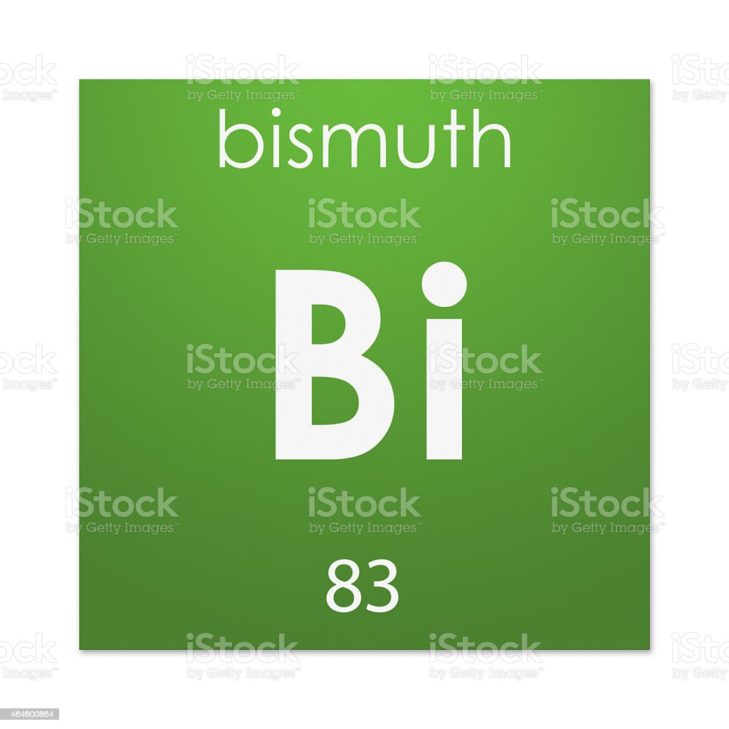 Bismuth (chemical element) stock photo