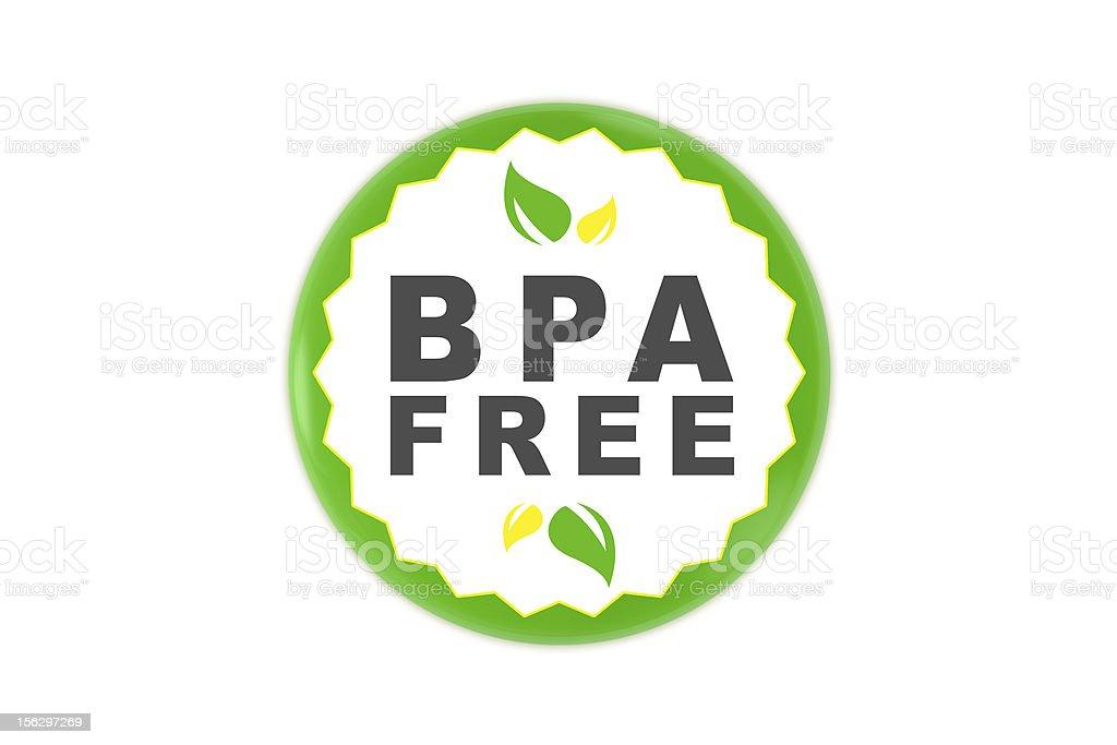 Bisphenol A Free badge royalty-free stock photo
