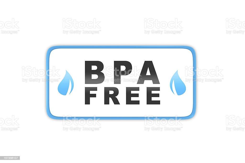 Bisphenol A Free badge stock photo