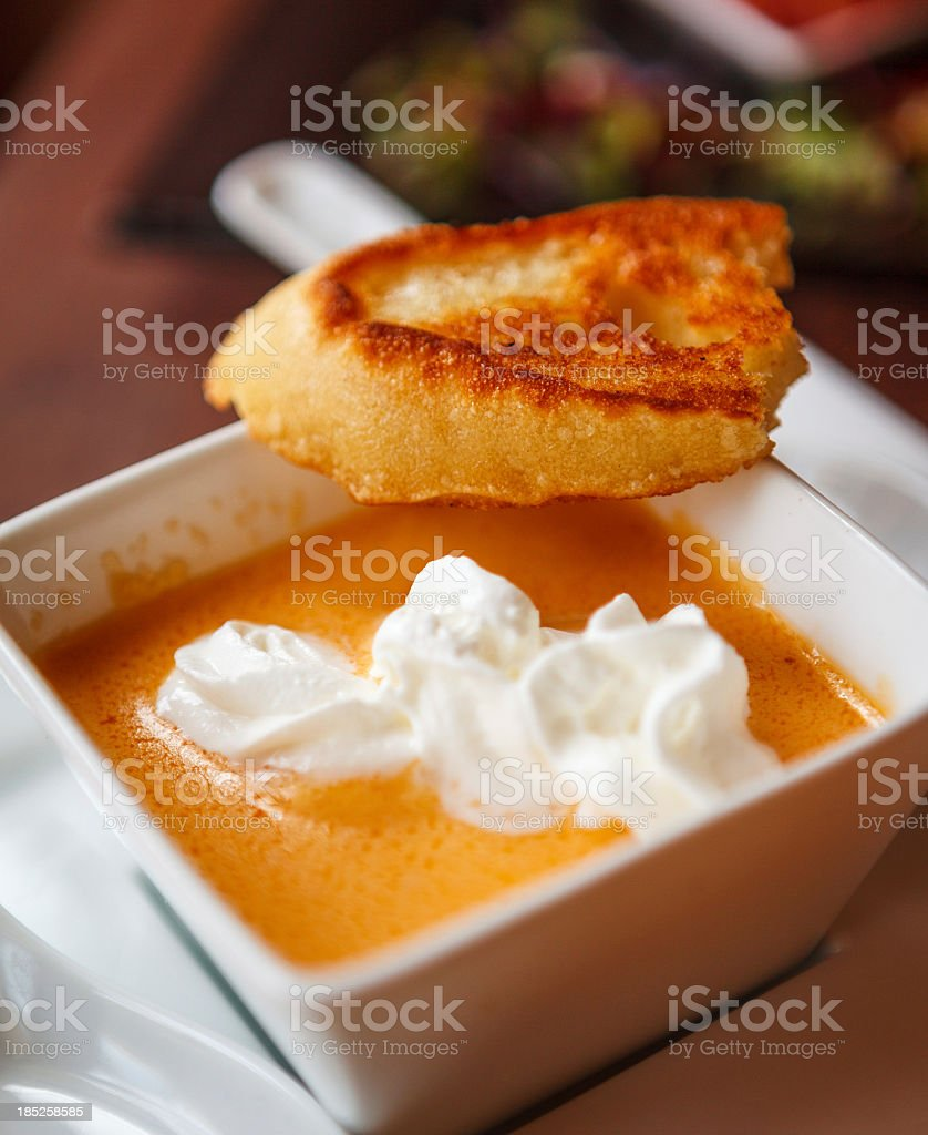 bisque lobster soup stock photo