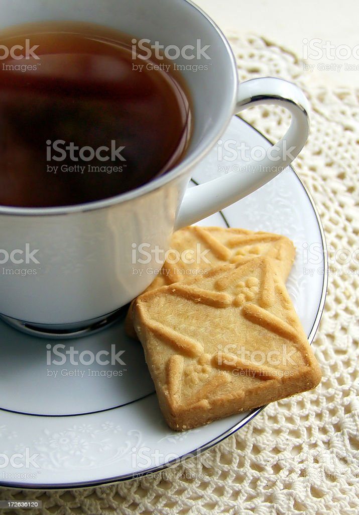 bisquits and tea royalty-free stock photo